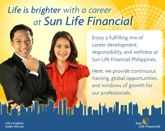 Life is brighter with a career as Sun Life Financial