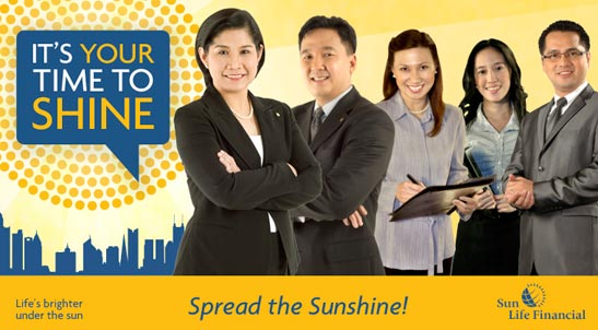It's your time to shine. Join Sun Life Financial today!